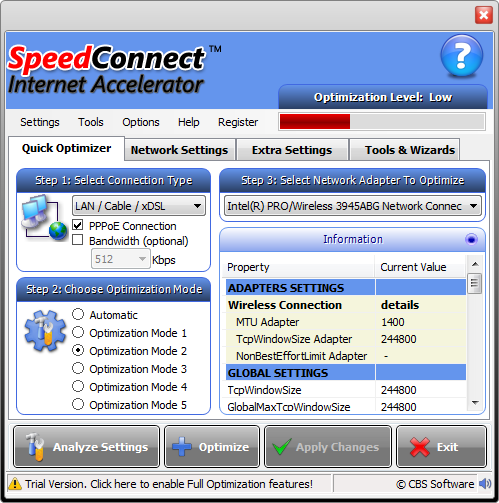boost internet  speed software