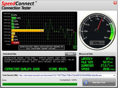 Click to view SpeedConnect Connection Tester screenshots